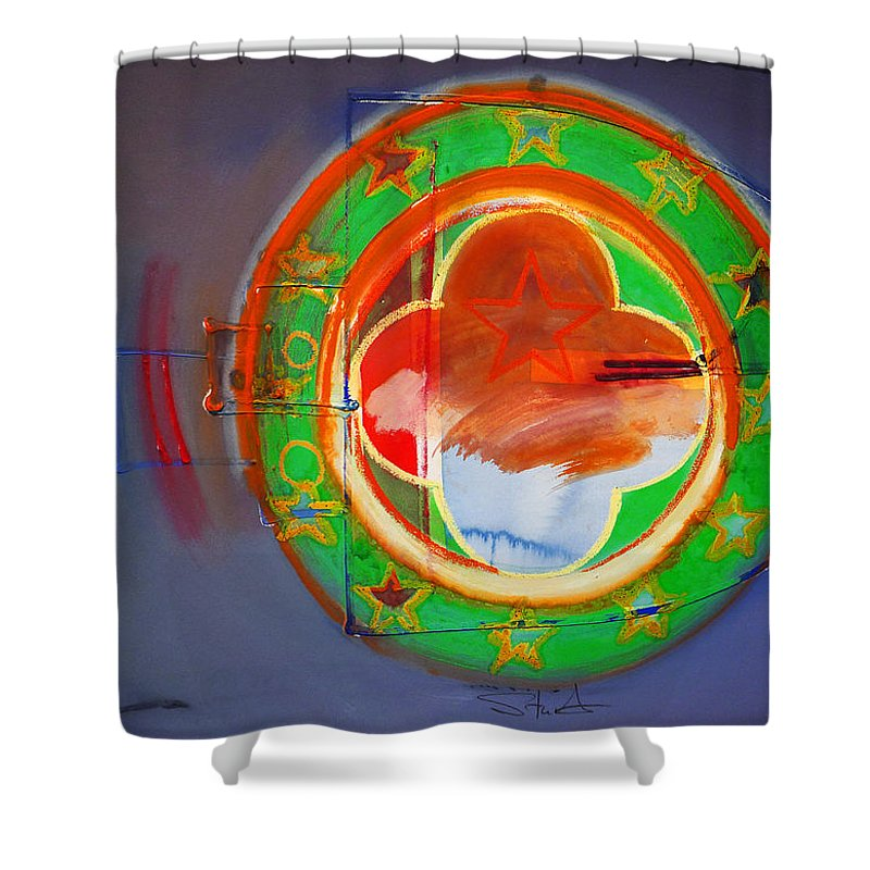 Symbol Shower Curtain featuring the painting Ship Of State by Charles Stuart