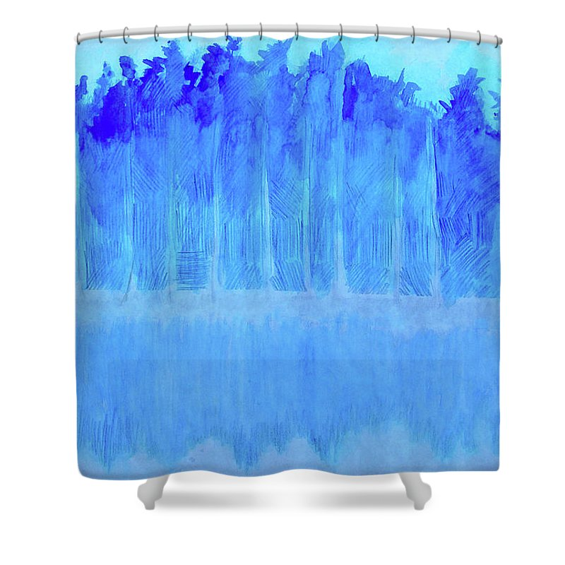 Shivering Timbers Shower Curtain featuring the mixed media Shivering Timbers by Seth Weaver