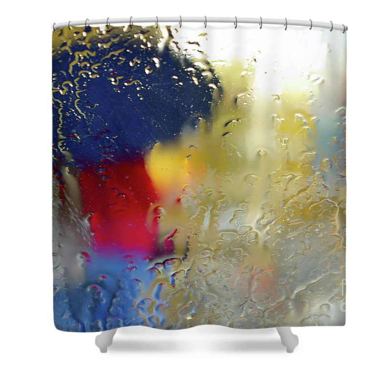 Abstract Shower Curtain featuring the photograph Silhouette In The Rain by Carlos Caetano