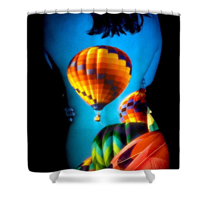 Hot Air Balloon Shower Curtain featuring the photograph Soarin Beauty by Greg Fortier