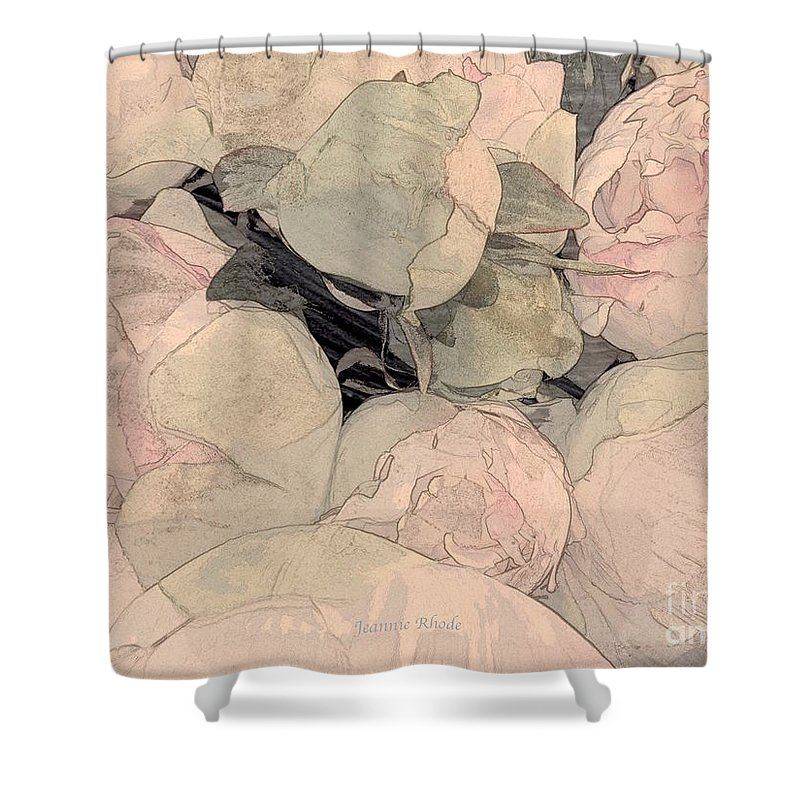 Soft Pink Peonies Shower Curtain featuring the photograph Soft Pink Peonies by Jeannie Rhode