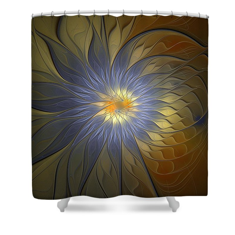 Digital Art Shower Curtain featuring the digital art Something Blue by Amanda Moore