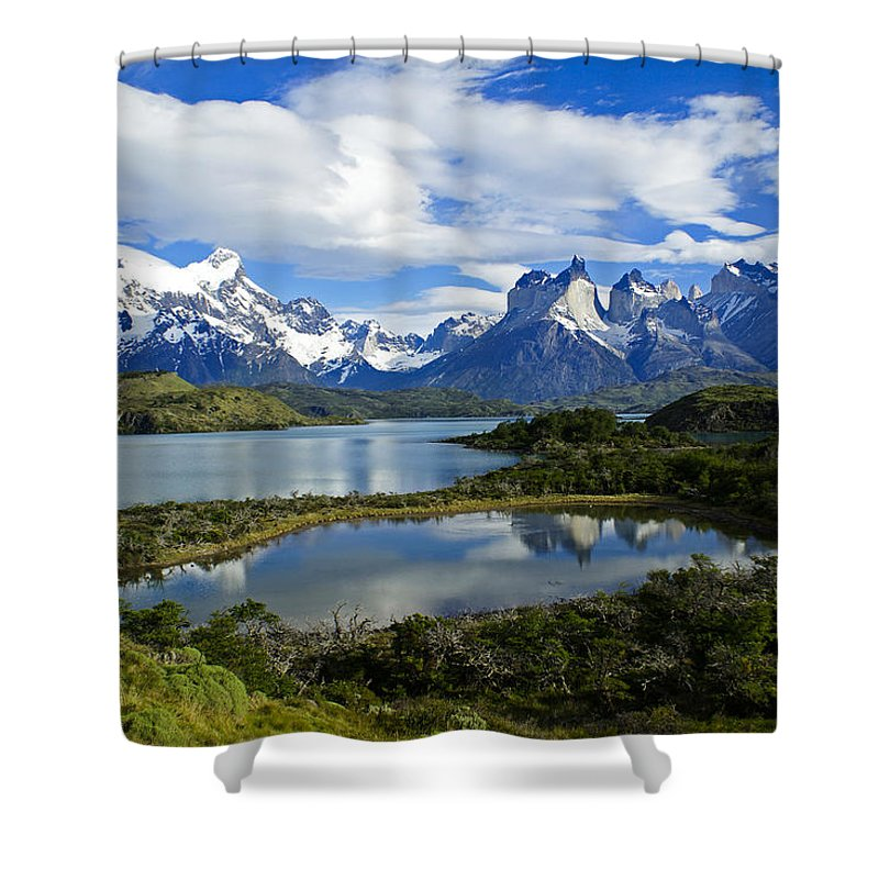 Patagonia Shower Curtain featuring the photograph Springtime in Patagonia by Michele Burgess