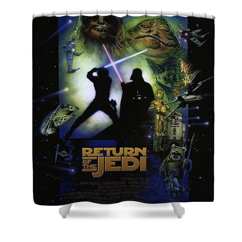 Star Wars Shower Curtain Featuring The Digital Art By Geek N Rock
