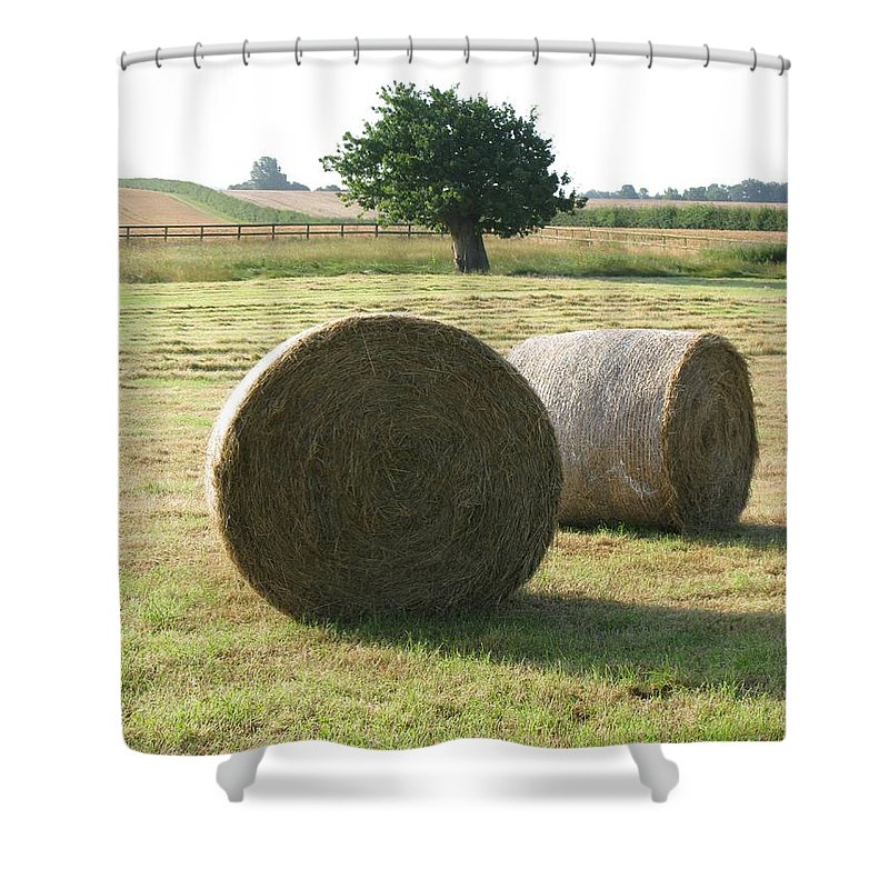 Haybales Shower Curtain featuring the photograph Summer by Maria Joy