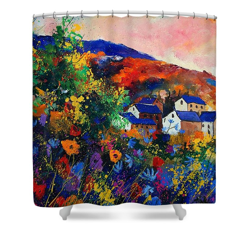Landscape Shower Curtain featuring the painting Summer by Pol Ledent