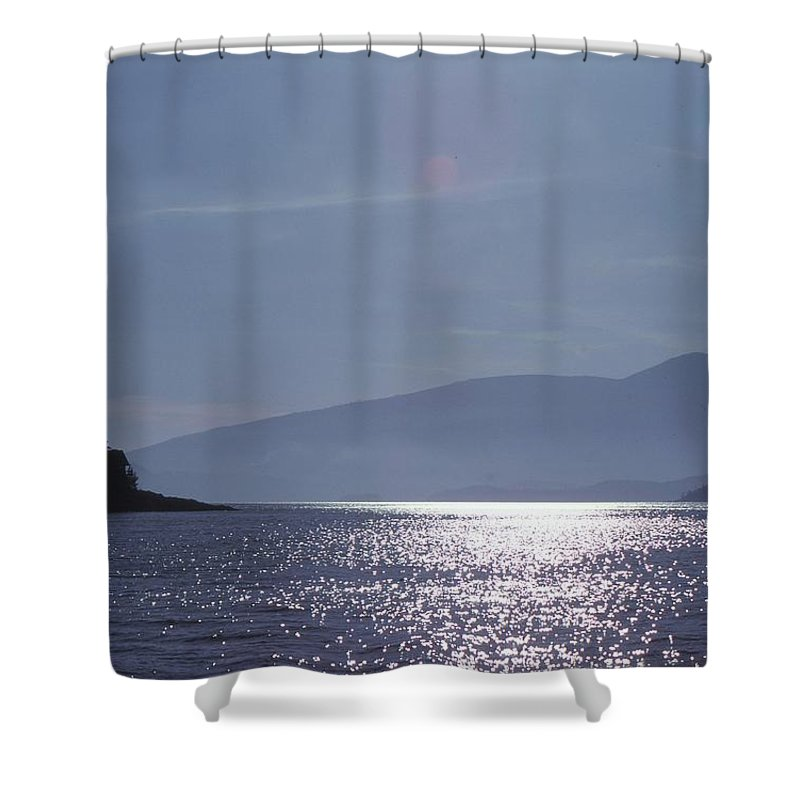 Abstract Shower Curtain featuring the photograph Sun On The Ocean by Lyle Crump