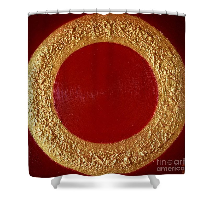 Sun Shower Curtain featuring the painting Sun Rise by Kumiko Mayer