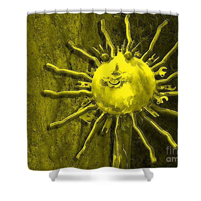Sun Shower Curtain featuring the photograph Sun Tool by Debbi Granruth