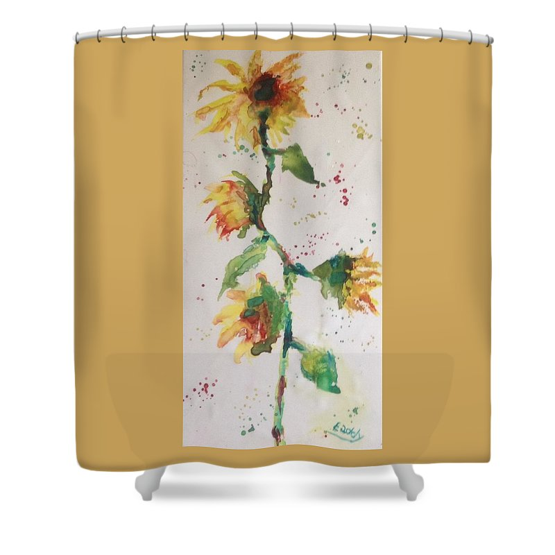 Shower Curtain featuring the painting Sunny by Morris Eaddy