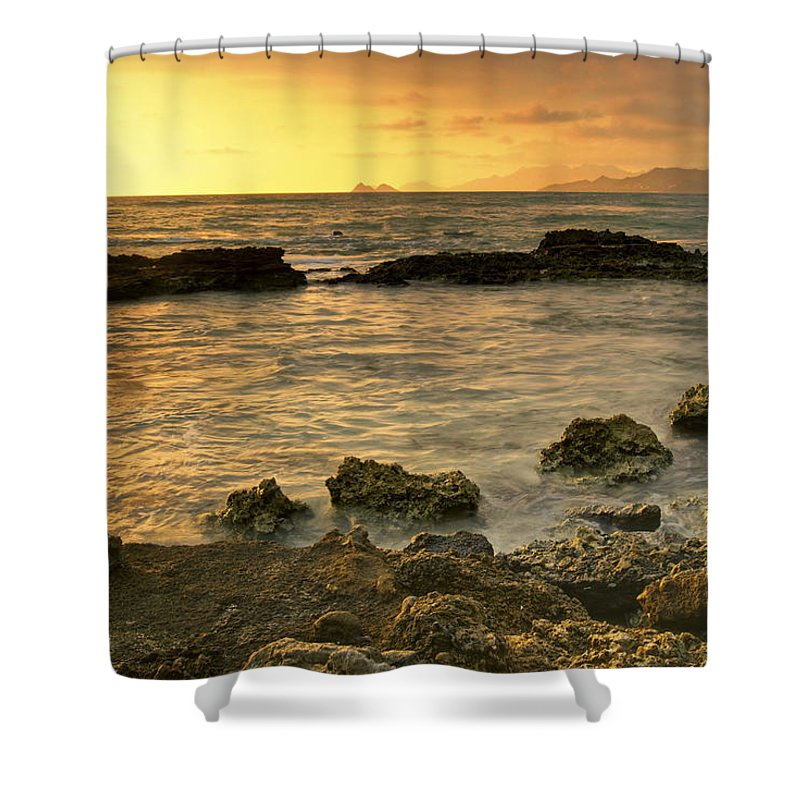 Oahu Shower Curtain featuring the photograph Sunrise Kaneohe by Michael Peychich