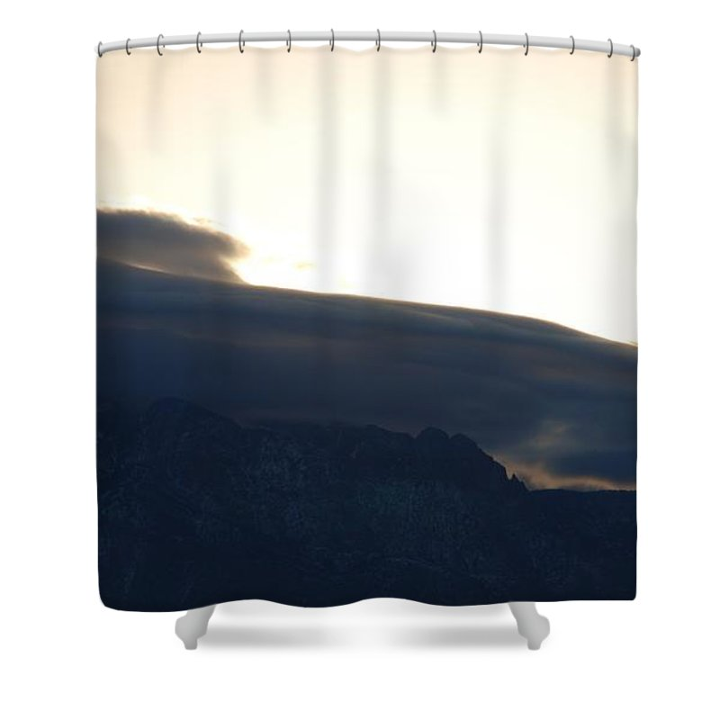 Sunrise Shower Curtain featuring the photograph Sunrise Over The Sandias by Rob Hans