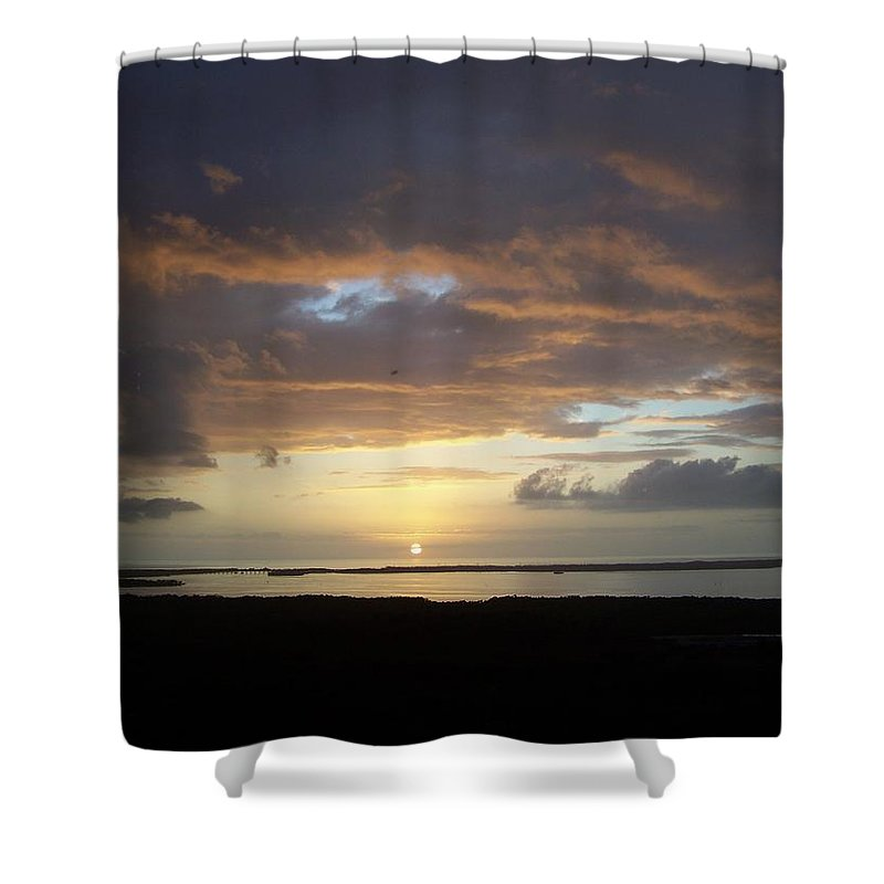 Sunset Shower Curtain featuring the photograph Sunset 0020 by Laurie Paci