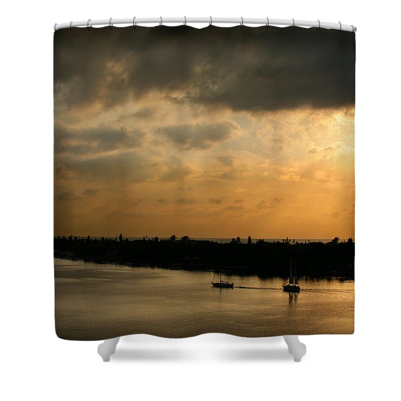 Photograph Shower Curtain featuring the photograph Sunset At Pass A Grille Florida by Mal Bray