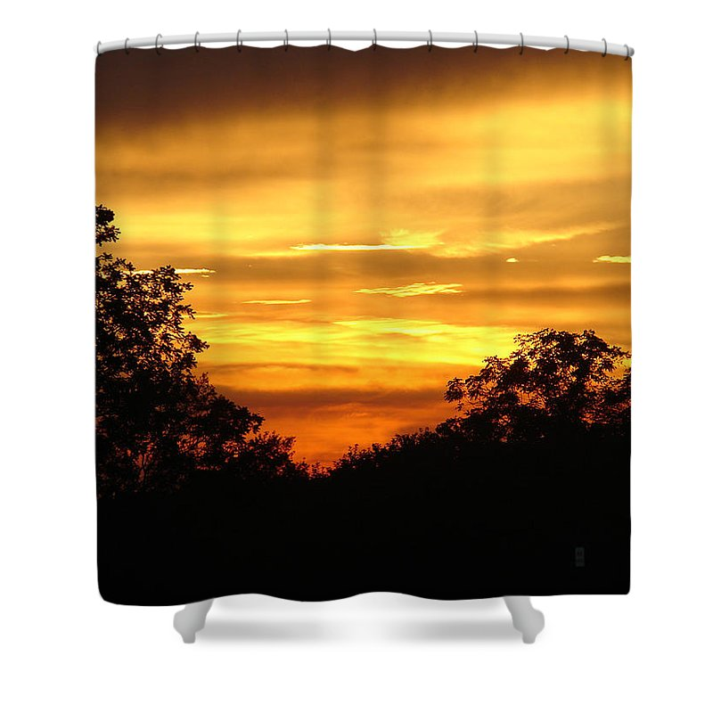 Evening Shower Curtain featuring the photograph Sunset by Heidi Poulin