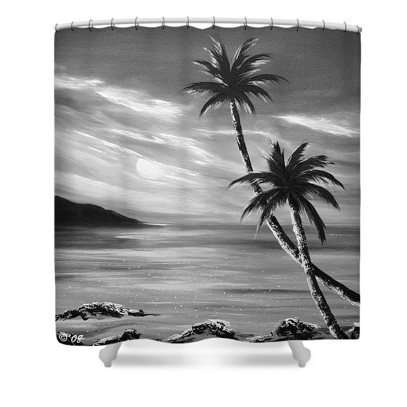 Sunset Shower Curtain featuring the painting Sunset In Paradise by Gina De Gorna