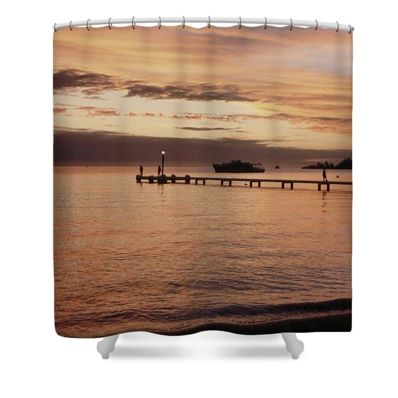 Sunset Shower Curtain featuring the photograph Sunset In Paradise by Mary-Lee Sanders