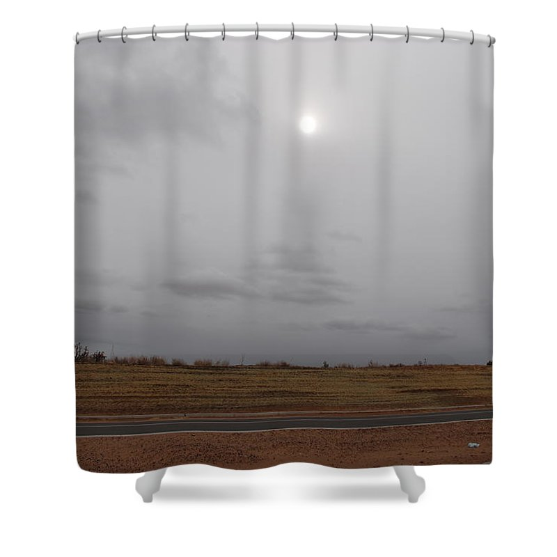 Desert Shower Curtain featuring the photograph Sunset In The Desert by Rob Hans