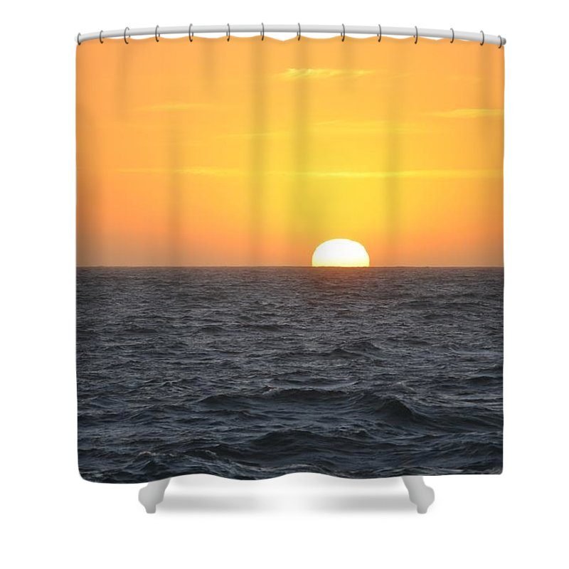 Digital Shower Curtain featuring the painting Sunset by Richard Benson