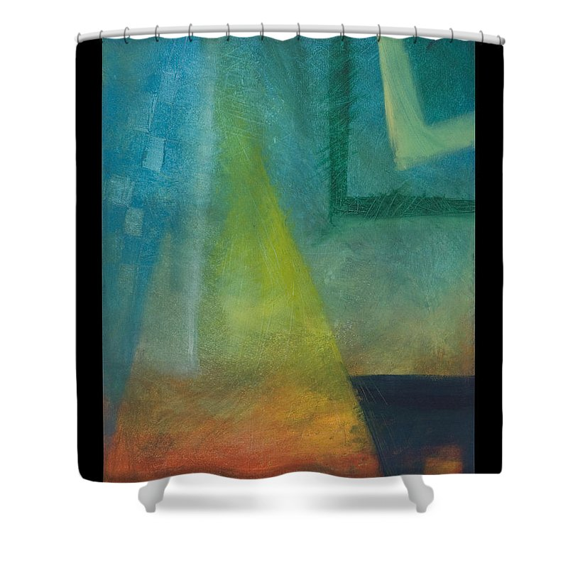 Sunset Shower Curtain featuring the painting Sunset Sail by Tim Nyberg