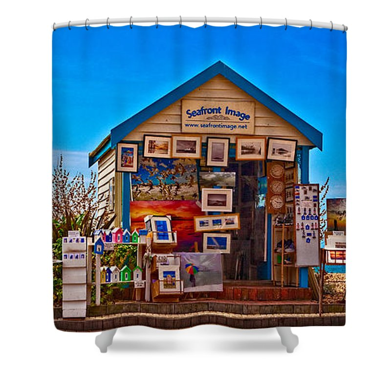 Sea Shower Curtain featuring the photograph Sunset Time At Brighton by Chris Lord