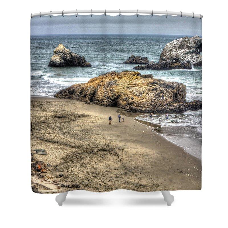 San Francisco Shower Curtain featuring the photograph Ocean Beach by SC Heffner