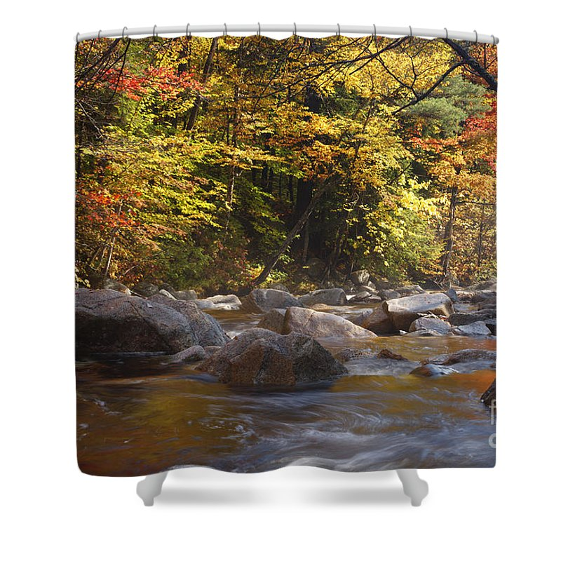 Swift River Shower Curtain featuring the photograph Swift River - White Mountains New Hampshire Usa by Erin Paul Donovan
