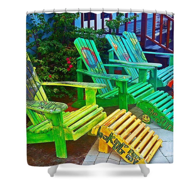 Chair Shower Curtain featuring the photograph Take a Break by Debbi Granruth