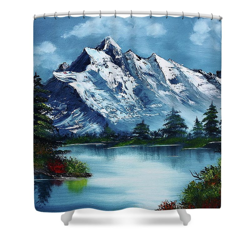 Bob Ross Paintings Shower Curtains