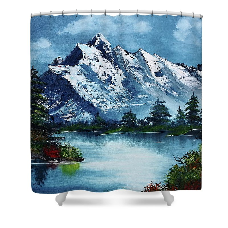 Bob Ross Shower Curtains