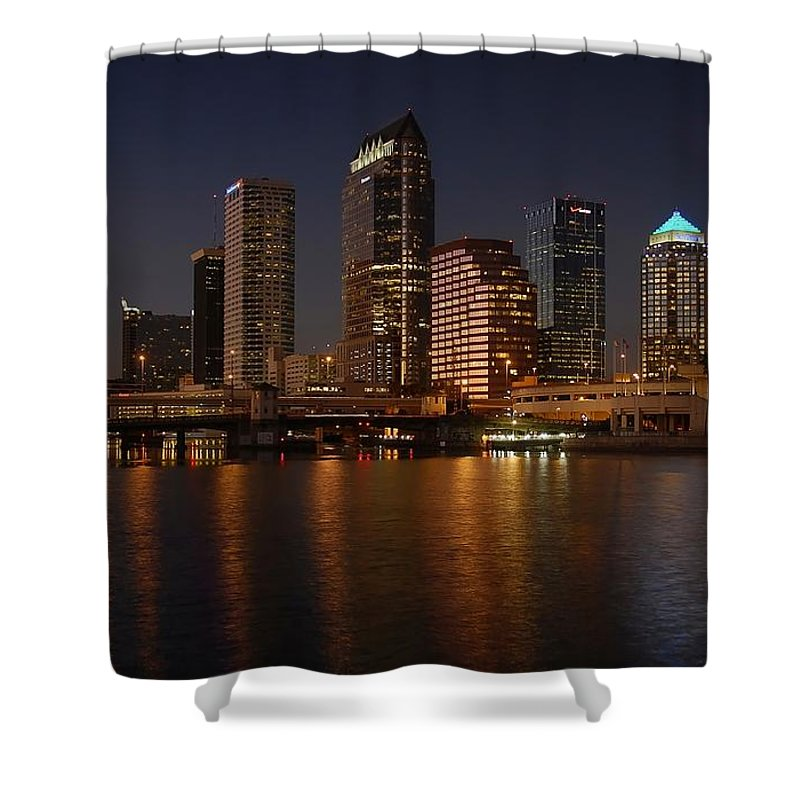 Tampa Shower Curtain featuring the photograph Tampa Florida by David Lee Thompson