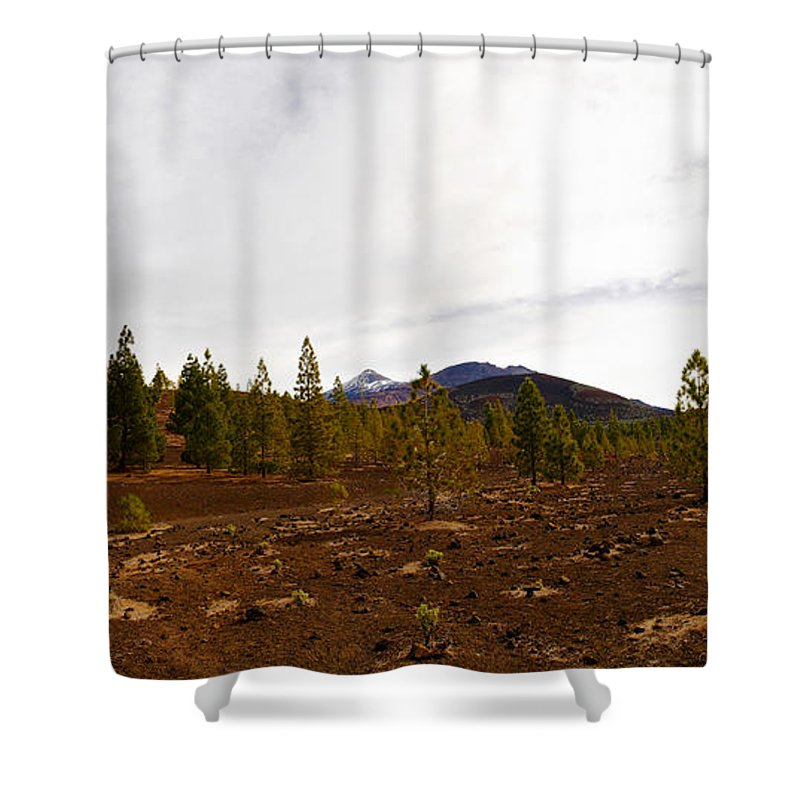 Landscape Shower Curtain featuring the photograph Teide Nr 11 by Jouko Lehto