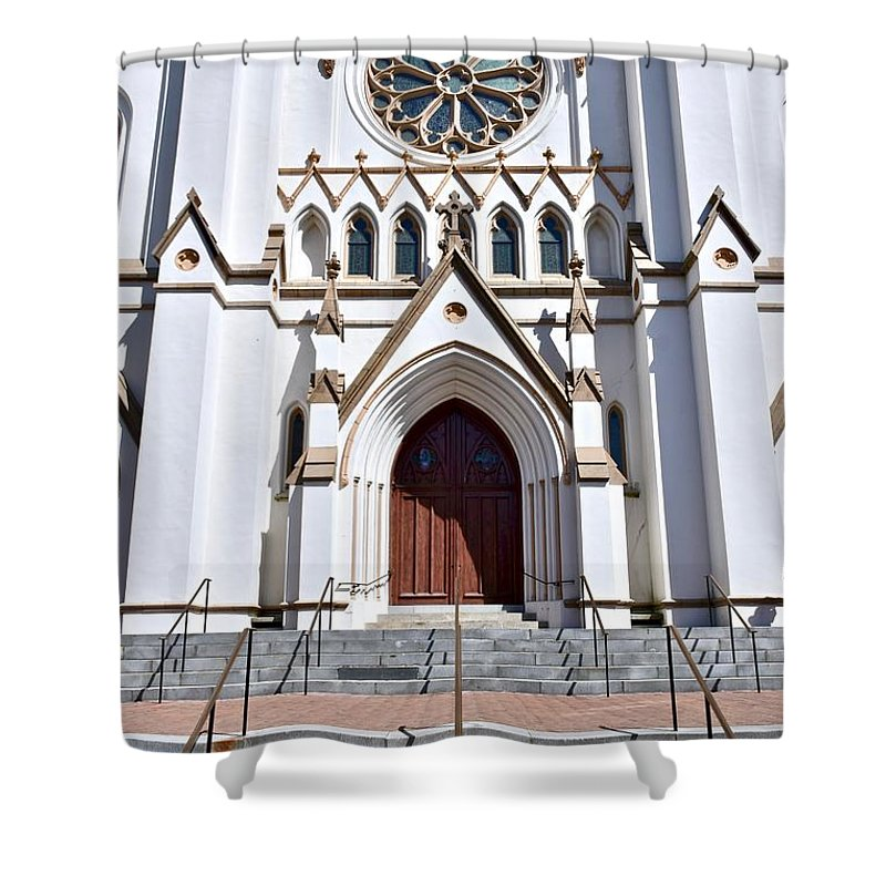 Baptist Church Shower Curtain featuring the photograph The Cathedral Of St. John The Baptist by Jeramey Lende
