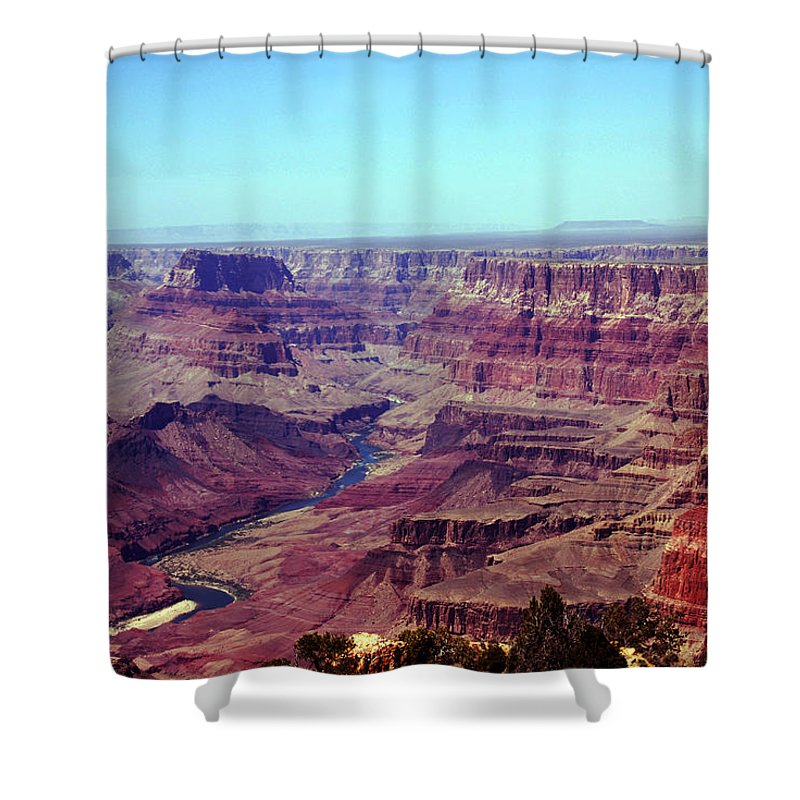 Grand Canyon Shower Curtain featuring the photograph The Colorado River by Susanne Van Hulst