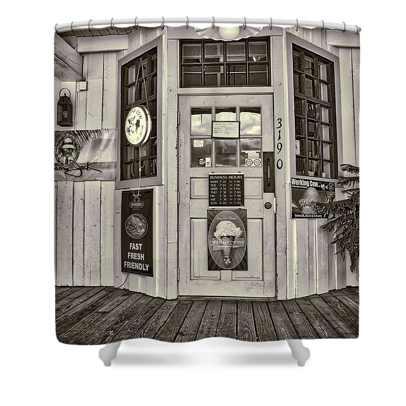 General Store Shower Curtain featuring the photograph The General Store by John McCuen
