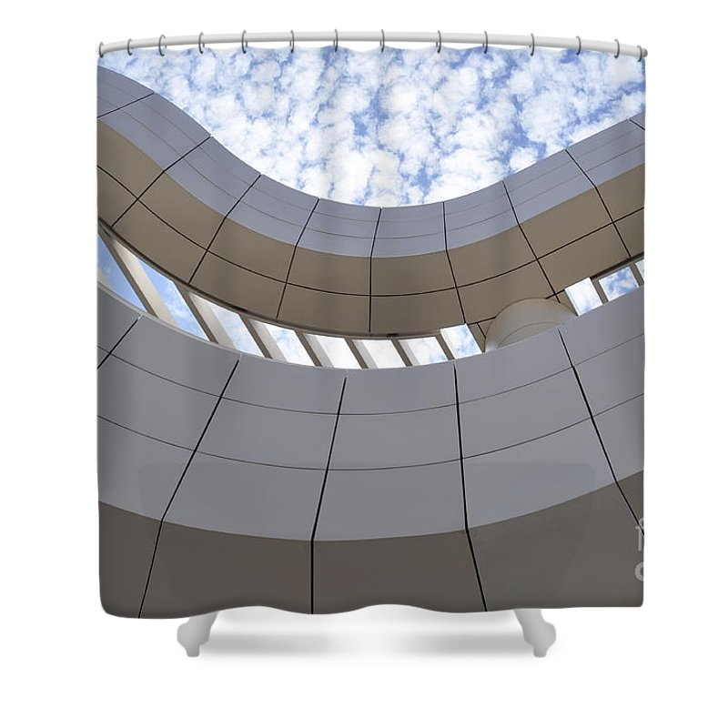 Clay Shower Curtain featuring the photograph The Getty by Clayton Bruster