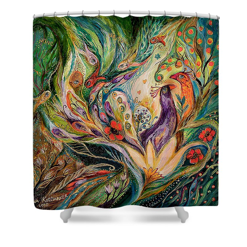 Original Shower Curtain featuring the painting The Glade by Elena Kotliarker
