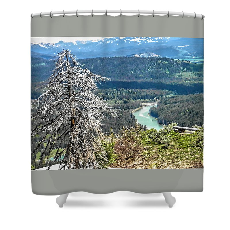 The Grande Tetons Shower Curtain featuring the photograph The Grande Tetons by Betsy Cullen