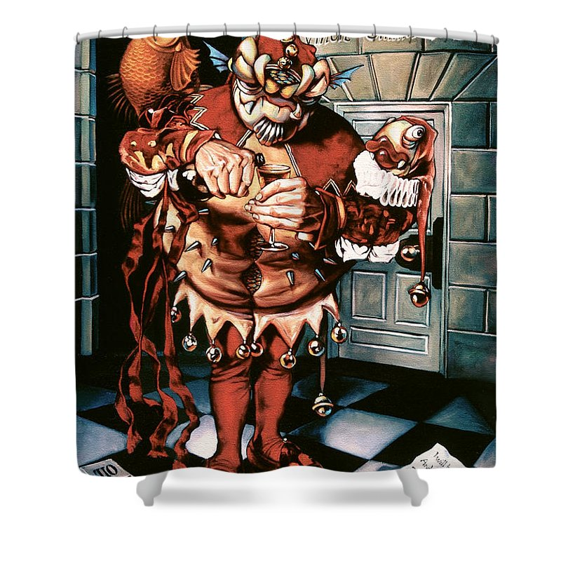 Jester Shower Curtain featuring the painting The Jesterook by Patrick Anthony Pierson