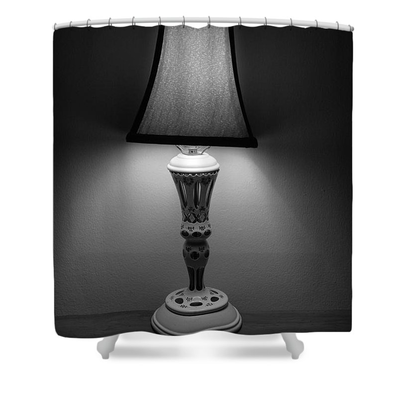 Lights Shower Curtain featuring the photograph The Lamp by Rob Hans