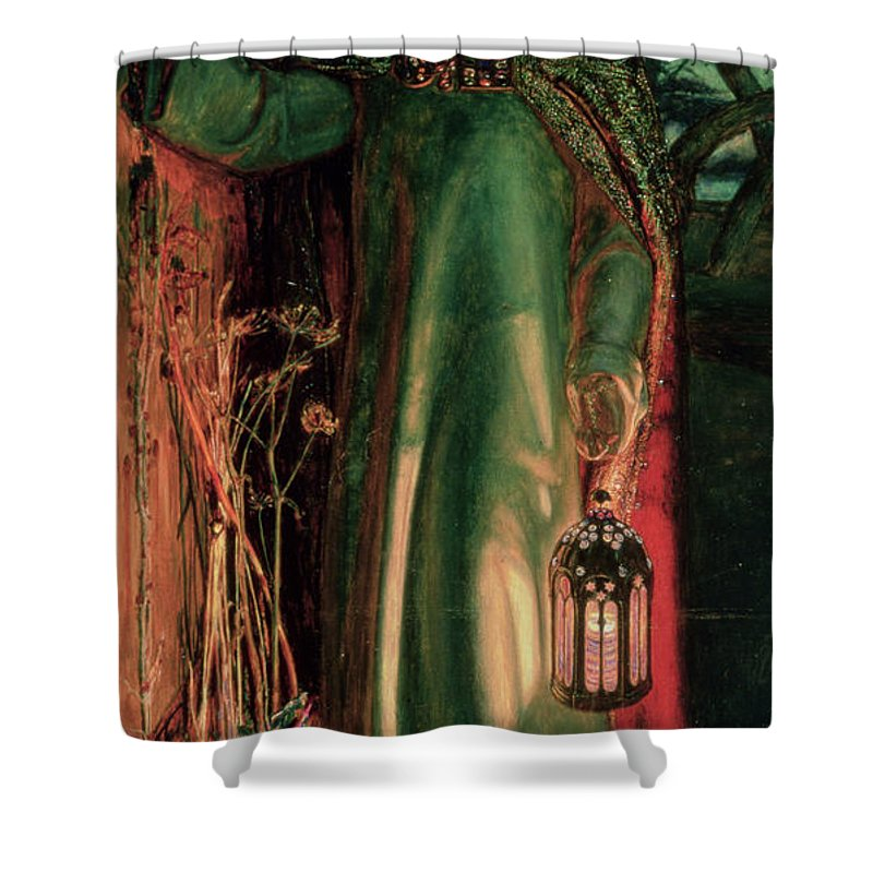 Jesus Shower Curtain featuring the painting The Light Of The World by William Holman Hunt