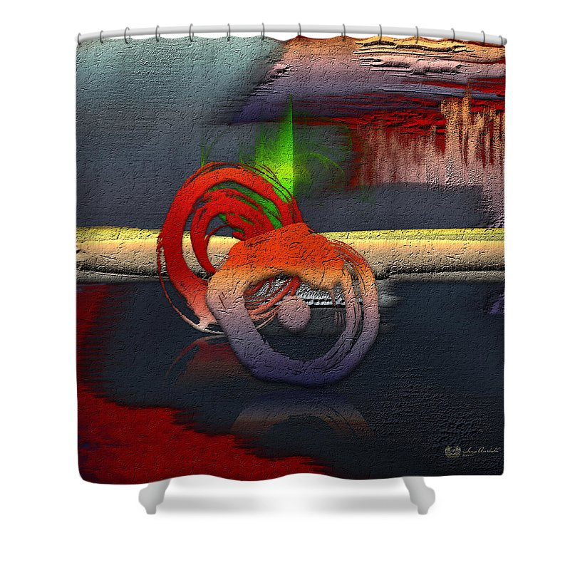 Abstracts Plus By Serge Averbukh Shower Curtain featuring the photograph The Night is Young by Serge Averbukh
