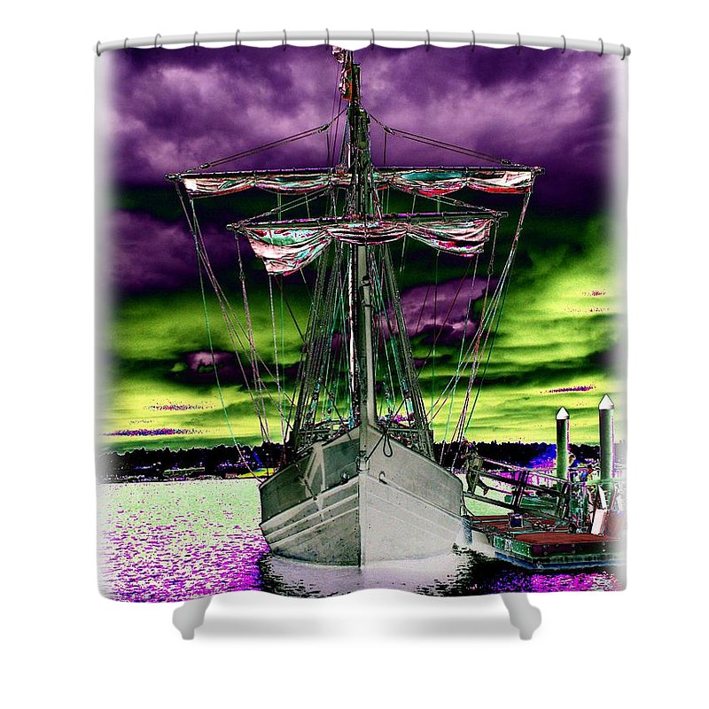 Nina Shower Curtain featuring the photograph The Nina 2 by Tim Allen