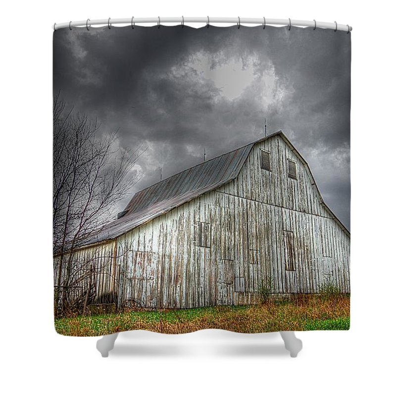 Old Barn Shower Curtain featuring the photograph The Old Barn by Karen McKenzie McAdoo