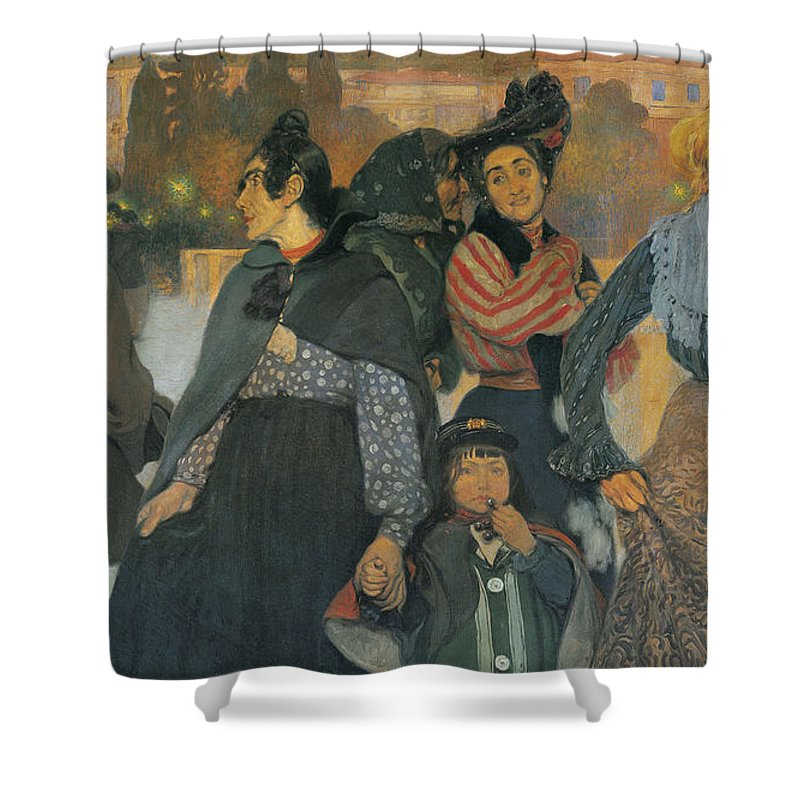 Anselmo Guinea Shower Curtain featuring the painting The Origins Of The Modern In Basque by Anselmo Guinea
