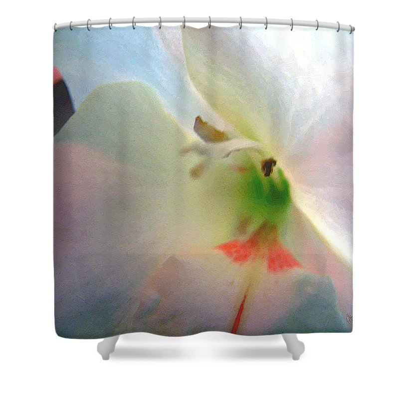 Blue Shower Curtain featuring the digital art The Persistence Of Romance by RC DeWinter