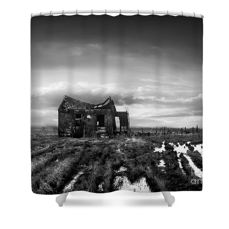 Architecture Shower Curtain featuring the photograph The Shack by Dana DiPasquale