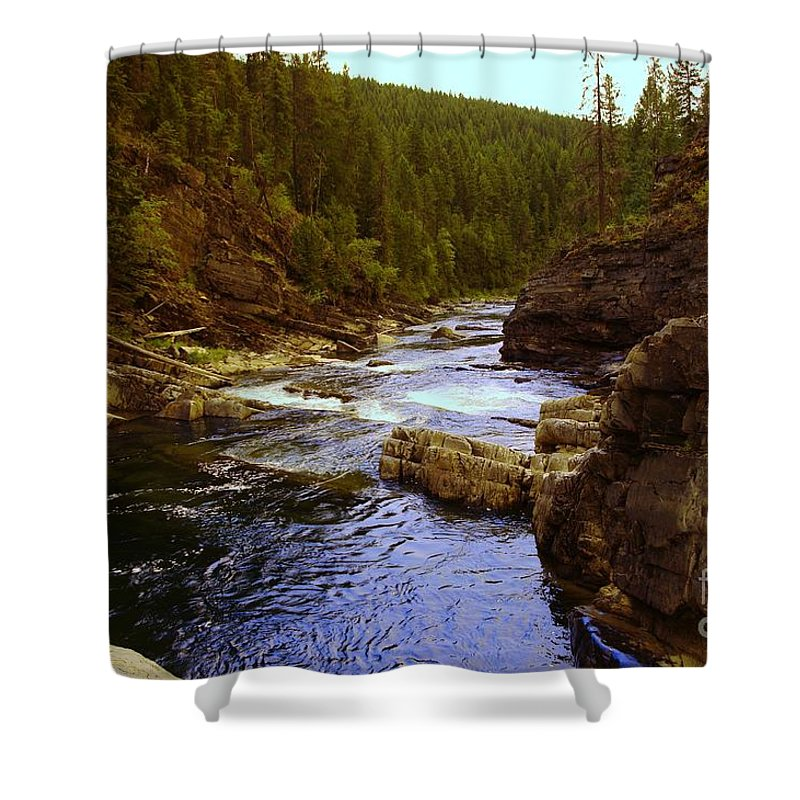 Water Shower Curtain featuring the photograph The Yak River by Jeff Swan