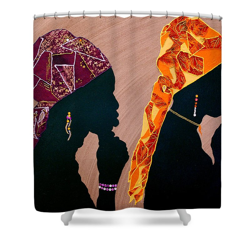 Pray Shower Curtain featuring the mixed media Thought And Prayer by Kayon Cox