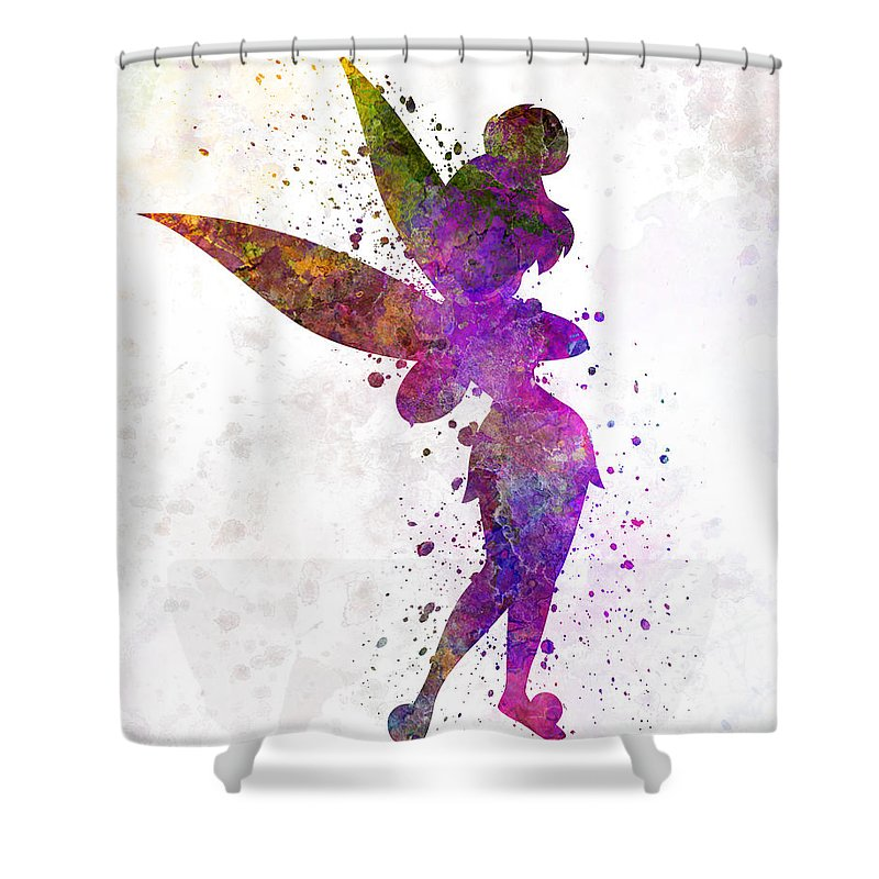 Tinkerbell In Watercolor Shower Curtain For Sale By Pablo Romero